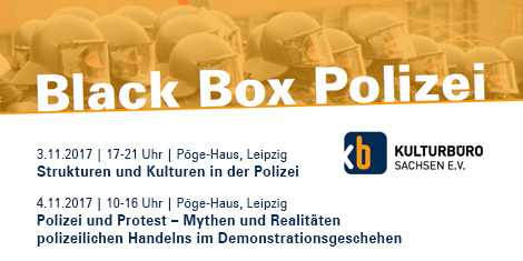 "Banner Workshops ""Black Box Polizei"""