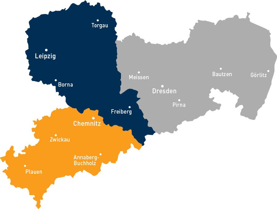 Karte MBT Büro Aufteilung Sachsen