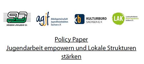 """Logos Unterzeichner_innen """"Policy Paper jugendarbeit empowern und lokale Strukturen stärken"""""""