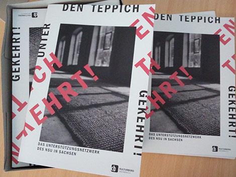 """Cover Broschüre """"Unter den Teppisch gekehrt"""""""