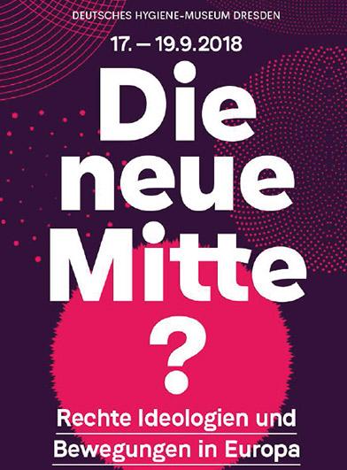 """Banner zur Tagung """"Die neue Mitte?"""""""