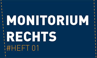 Cover Broschüre Monitorium Rechts #Heft 01
