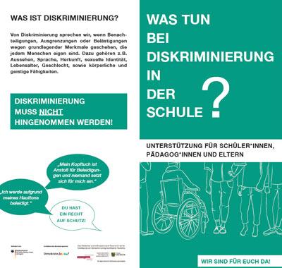 Cover Faltblatt Diskriminierung an Schulen, Sachsen