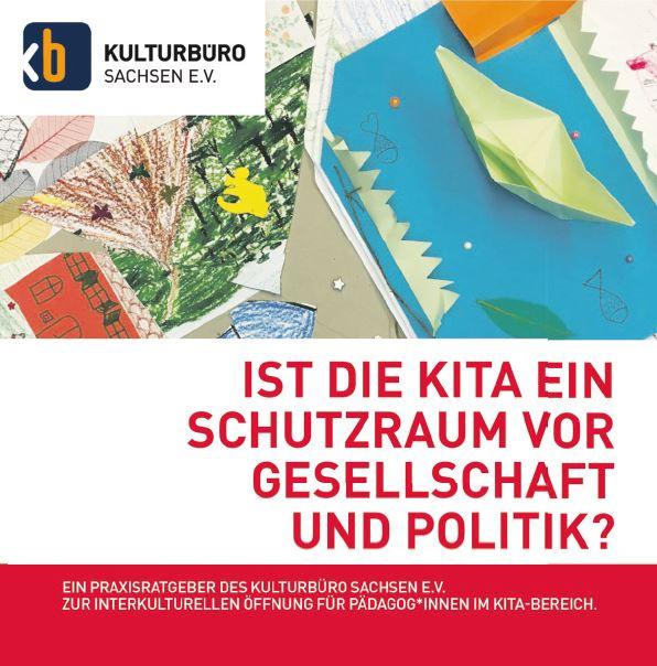 """Cover Broschüre """"Ist die Kita ein Schutzraum vor Gesellschaft und Politik?"""""""