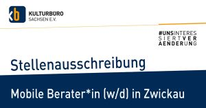 Banner Stellenausschreibung Mobile Beratung Zwickau, Mai 2020