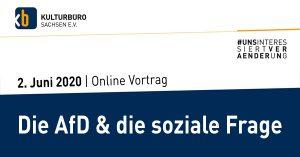 Banner Webinar 2. Juni 2020: Die AfD und die soziale Frage