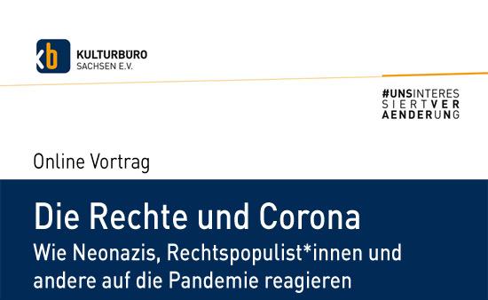 """Banner Webinar """"Die Rechte und Corona"""""""