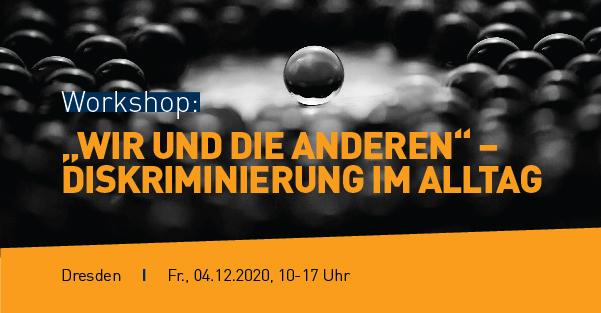 """Cover Flyer Workshop: """"Wir und die Anderen"""" – Diskriminierung im Alltag"""""""
