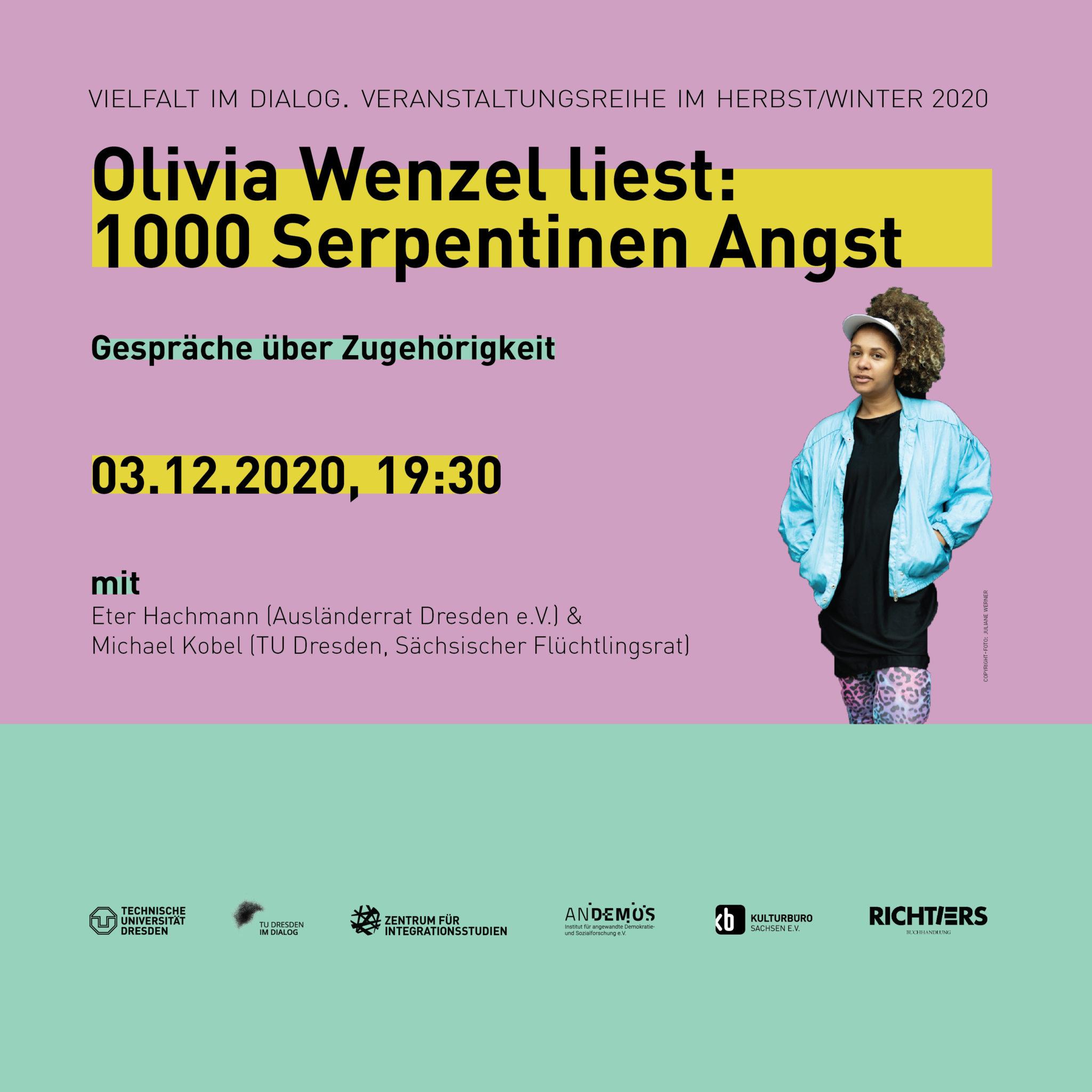 """Banner Veranstaltung """"1000 Serpentienen Angst"""", 3.12.2020"""