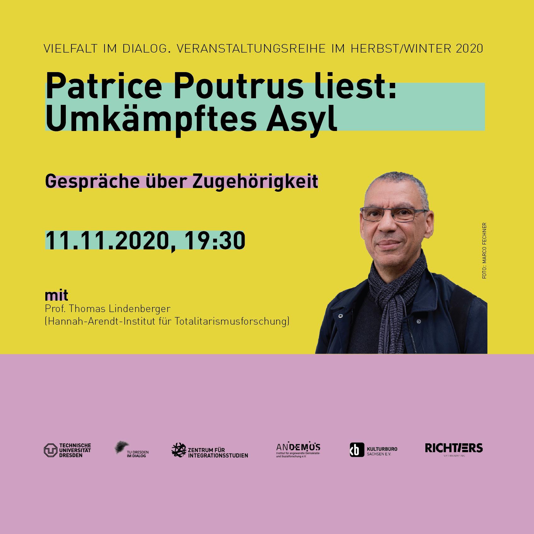 """Banner Veranstaltung """"Umkämpftes Asyl"""", 11.11.2020"""