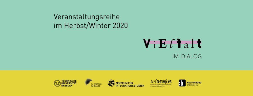 """Banner Veranstaltungsreihe """"Vielfalt im Dialog"""""""
