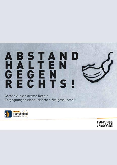 "Cover Broschüre Abstand halten gegen Rechts"""