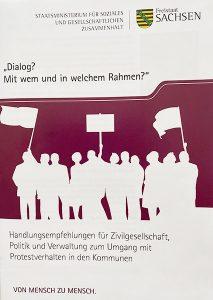 """Pubikation """"Dialog? Mit wem und in welchem Rahmen"""", 2021"""