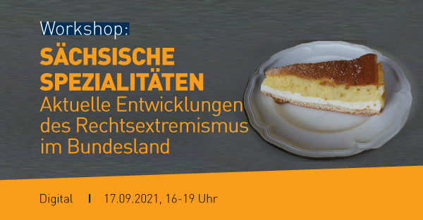 Das Bild enthält die Eckdaten der Veranstaltung: Titel, Datum, Uhrzeit. als dekoratives Element ist eine Sächsische Eierschecke zu sehen.