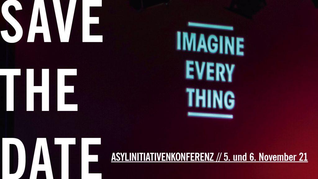 Das Bild dient der Bewerbung der Asylinitiativenkonferenz 2021