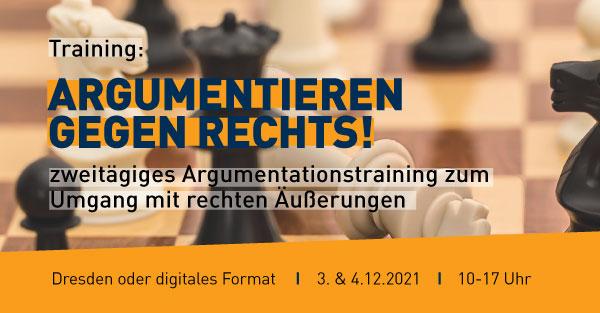 Training Argumentieren gegen Rechts - das Bild dient der Veranstaltungsbewerbung